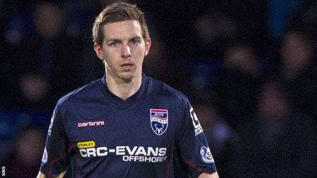 Steven Saunders in action for Ross County