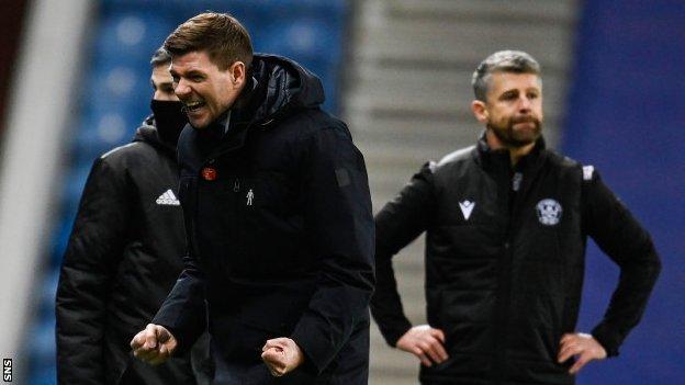 Rangers menajeri Steven Gerrard,