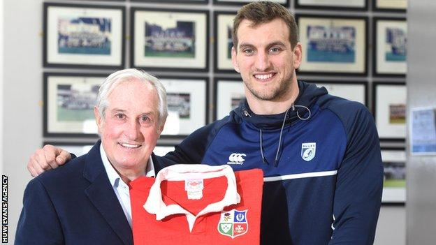 Gareth Edwards and Sam Warburton were Wales and Lions stars during their respective eras