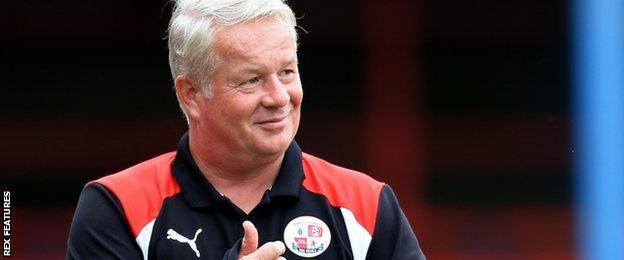 Crawley head coach Dermot Drummy