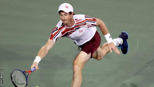 Andy Murray at the Cincinnati Masters