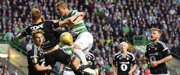 Rosenborg and Celtic players