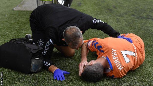 Jamie Murphy picked up a knee injury at Rugby Park on Sunday