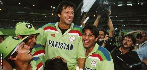 Imran Khan led Pakistan to World Cup glory in 1992