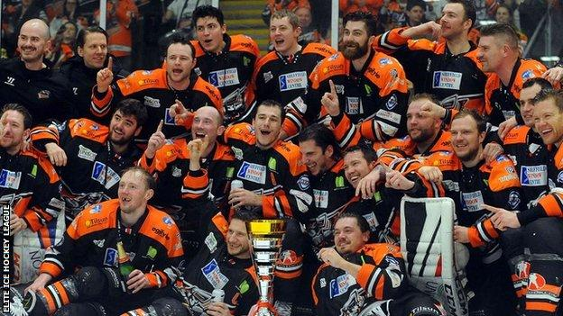 Sheffield Steelers beat Cardiff Devils in the Challenge Cup final in March