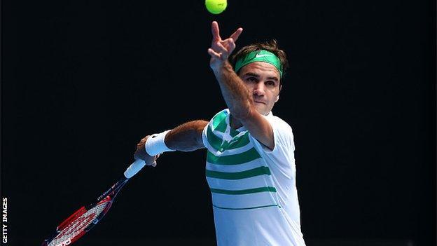 World number three Roger Federer