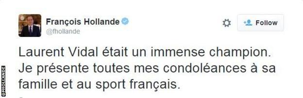 Francois Hollande tweet snip