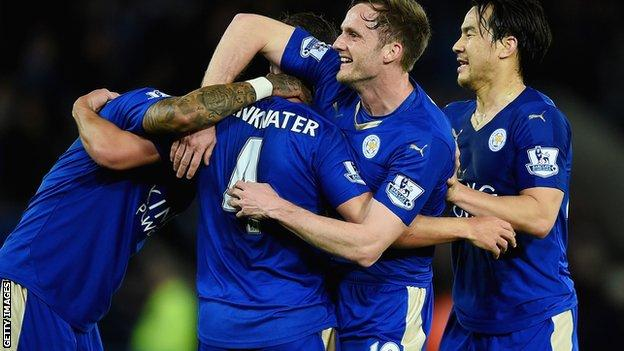 Leicester City celebrate a goal