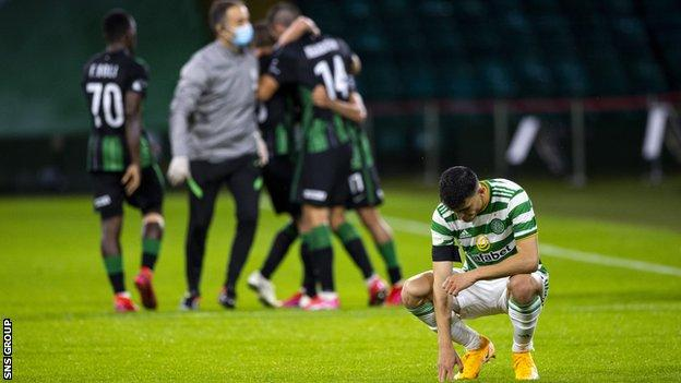 Celtic lost out at home to Hungarian opponents