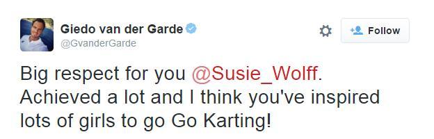 Tweet from Giedo van der Garde