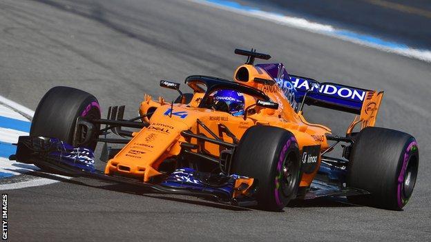 Fernando Alonso in German GP qualifying