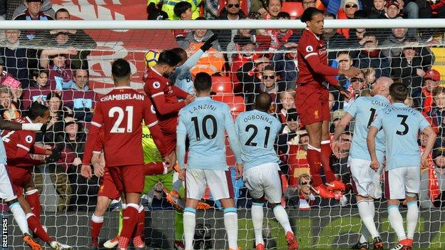 Emre Can scores for Liverpool against West Ham