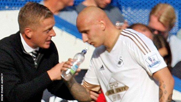 Midfielder Jonjo Shelvey has credited manager Garry Monk with Swansea's resurgence