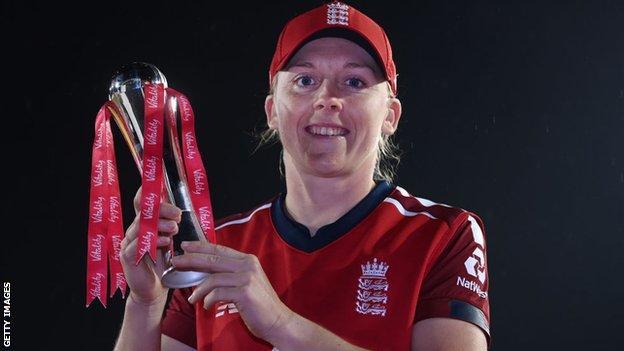 England women's captain Heather Knight