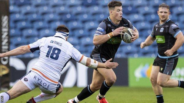 Huw Jones has impressed at full-back for Glasgow Warriors