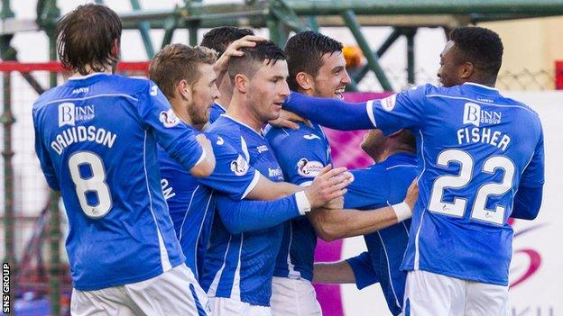 St Johnstone move up to fourth in the Premiership with a victory in Lanarkshire