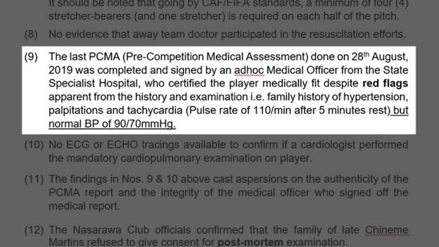 NFF report into the death of Chineme Martins