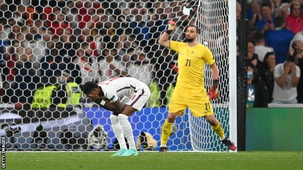 Marcus Rashford missed his penalty for England in the Euro 2020 final