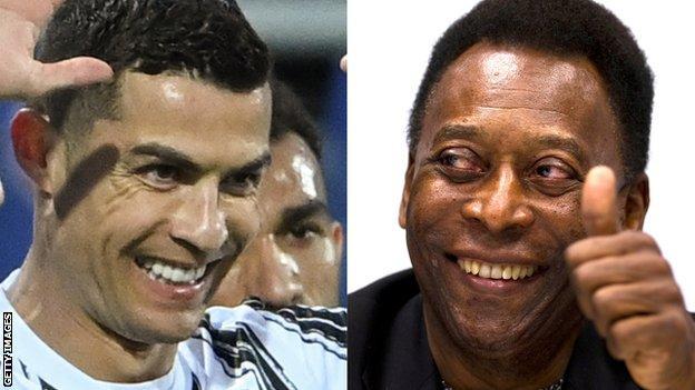 Cristiano Ronaldo and Pele
