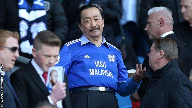 Businessman Vincent Tan took a controlling stake in Cardiff City in 2010