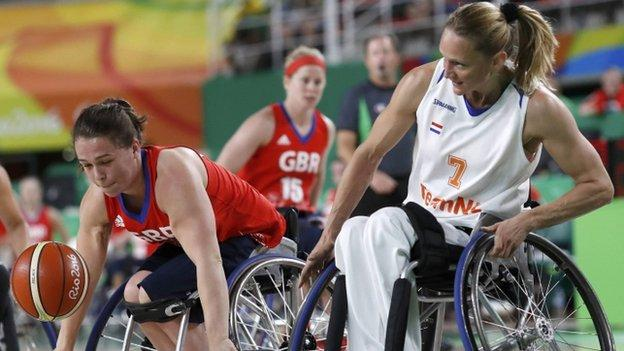 GB v Netherlands wheelchair basketball