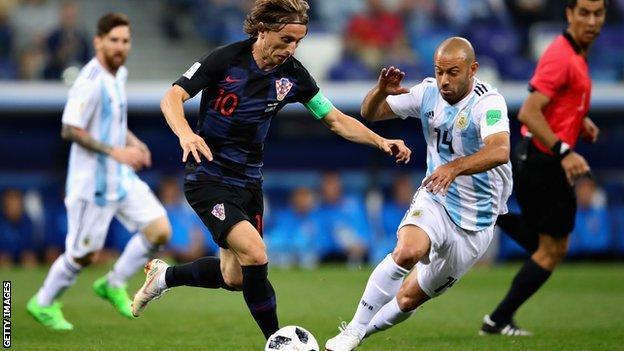Croatia's Luka Modric