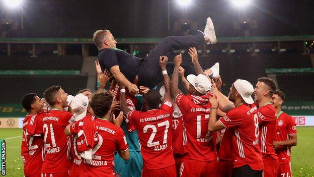 Hansi Flick en fête avec ses anciens joueurs du Bayern Munich