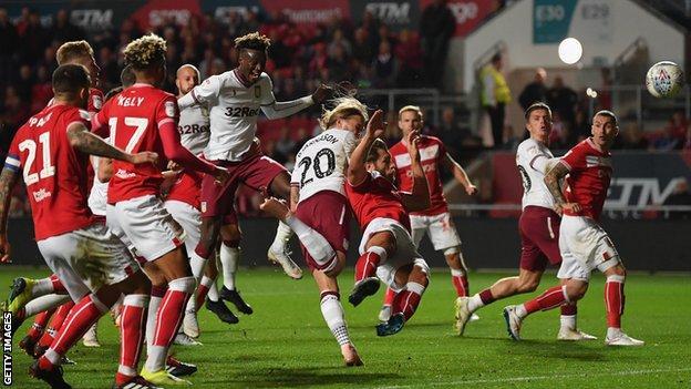 Birkir Bjarnason scores for Aston Villa