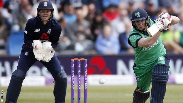 England's Sam Billings and Ireland's Kevin O'Brien