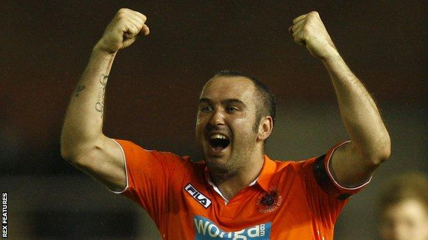 Gary Taylor-Fletcher played for Blackpool in the English Premier League