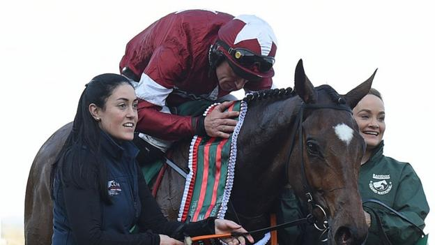 Grand National: Triumphant Tiger Roll becomes a 'rock star' racehorse thumbnail