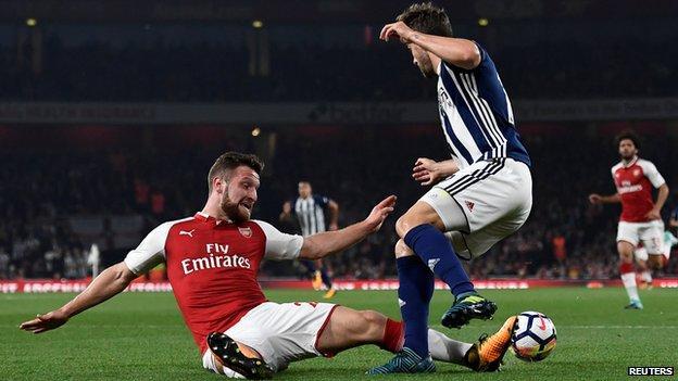 Mustafi tackle on Rodriguez