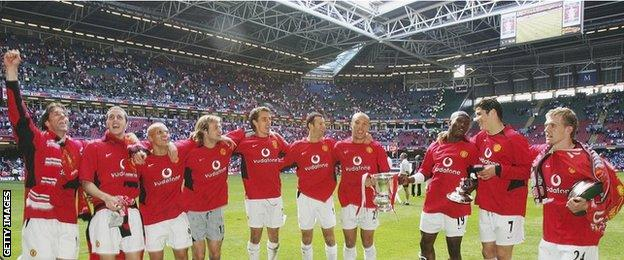 Manchester United won the 2004 FA Cup final against Millwall in Cardiff
