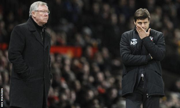 Sir Alex Ferguson (left) and Mauricio Pochettino