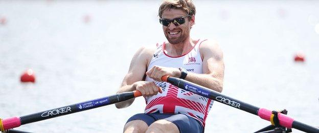 Alan Campbell is targeting a podium place in the single sculls at Aiguebelette