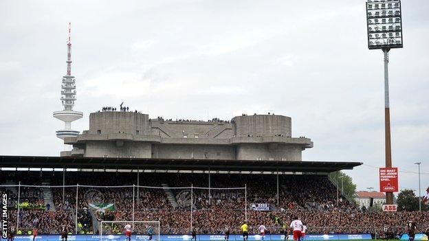 St Pauli's Millerntor stadium