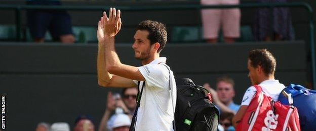 James Ward leaves Court One after his third-round defeat