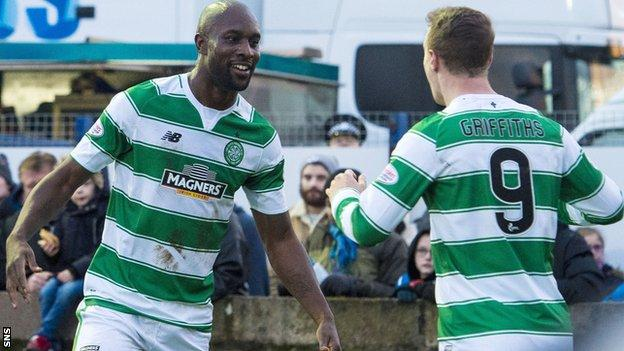Celtic forwards Carlton Cole and Leigh Griffiths