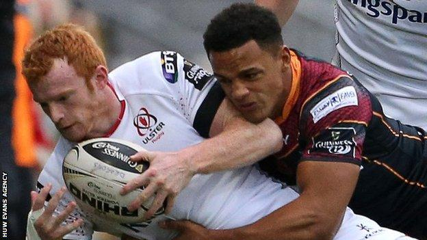 Ashton Hewitt tackles Peter Nelson during the game in November