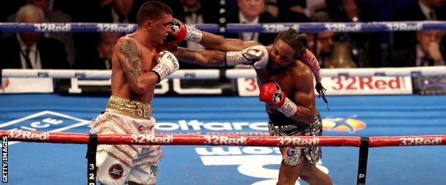 Lee Selby in action in last fight