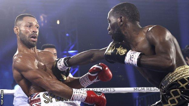 Kell Brook stopped in four rounds by Terence Crawford