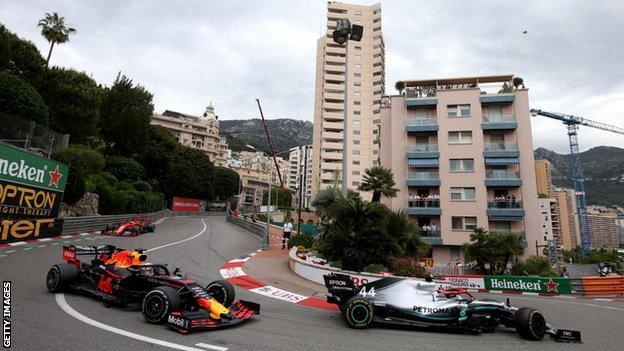 Lewis Hamilton leads the Monaco Grand Prix