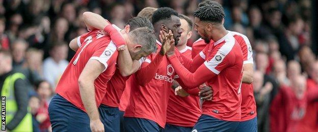 York City celebrations after the second of Jon Parkin's two goals proved premature thanks to Guiseley's late leveller