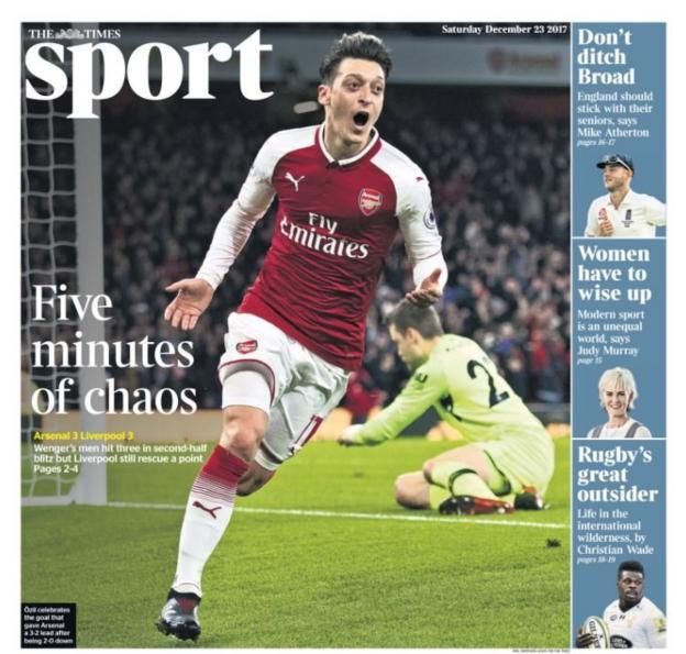 Saturday's Times