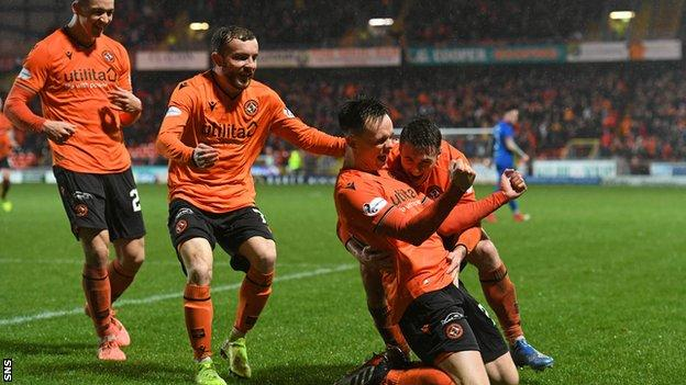 Dundee United celebrate
