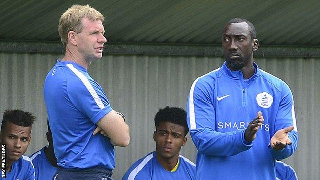 David Oldfield and Jimmy Floyd Hasselbaink