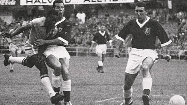 Brazil versus Wales at the 1958 World Cup