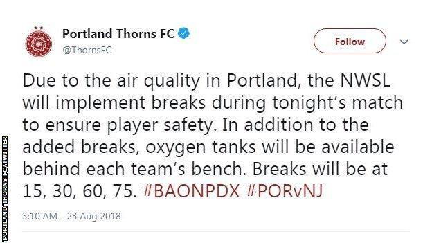Portland Thorns Tweet