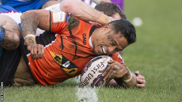 Ben Roberts try for Castleford