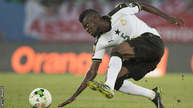 Thomas Partey in action for Ghana at the 2017 Africa Cup of Nations